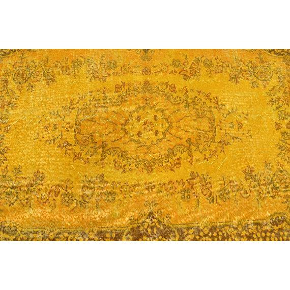 """Yellow Turkish Rug -- 3'11"""" X 6'9"""" - Image 5 of 6"""