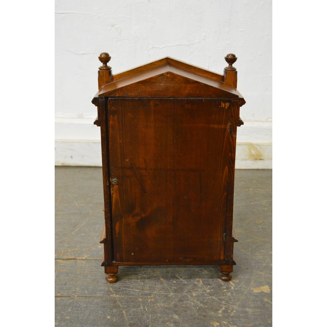 Antique Aesthetic Walnut Mantel Clock attributed to Daniel Pabst For Sale - Image 4 of 13