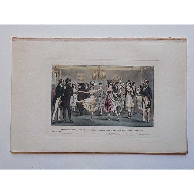 This 19th century engraving caricatures 18th century France during the revolutionary era. The image is hand colored and...