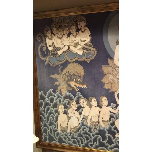 Framed Cultural Theme Indonesian Batik Artwork - Image 5 of 11