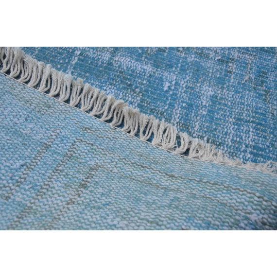 Turkish Oushak Blue Overdye Rug - 5′6″ × 7′10″ - Image 5 of 5