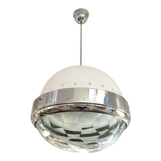 Faceted Lens Pendant Attributed to Lumi, Italy, 1960s For Sale