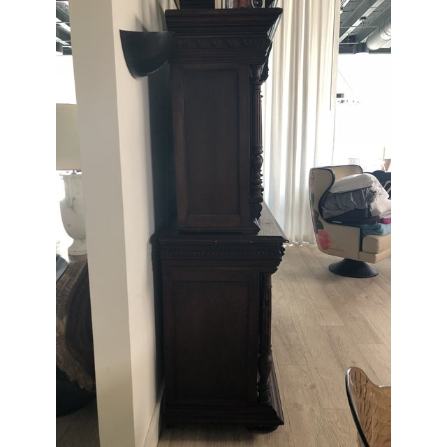 1800s Carved Antique Library Hutch For Sale - Image 10 of 11