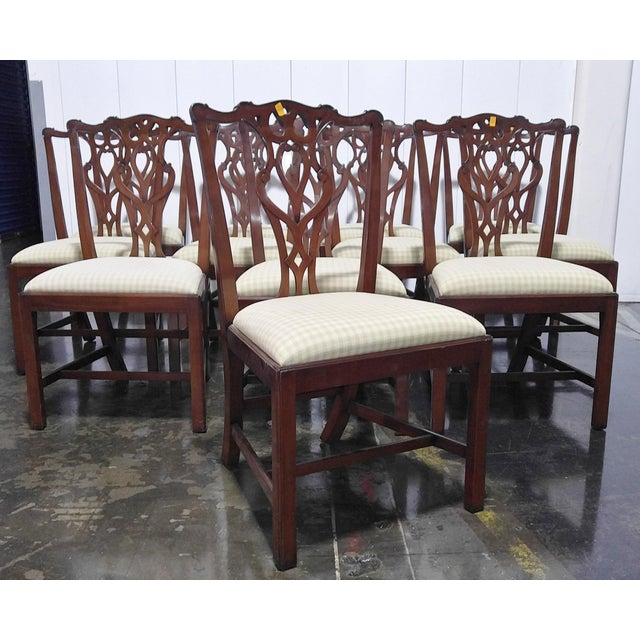 """1990s English Chippendale Dining Chairs by """"Restall, Brown & Clennell Ltd"""" - Set of 12 For Sale - Image 12 of 13"""