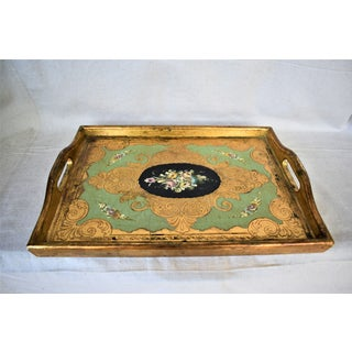 Antique G. Serraglini Hand Painted Tray Preview