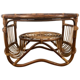 Bamboo and Reed Cocktail Table by Franco Albini For Sale