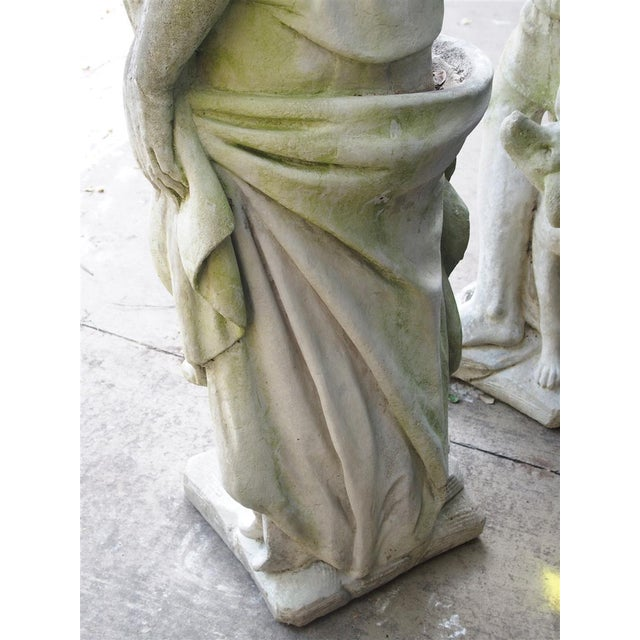 Stone Pair of 20th Century French Statues Representing Apollo and Diana For Sale - Image 7 of 13