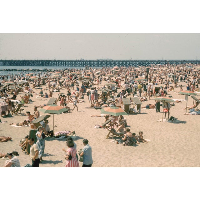 1960s Vintage Coney Island Brooklyn Beach Photograph Print For Sale In Los Angeles - Image 6 of 6