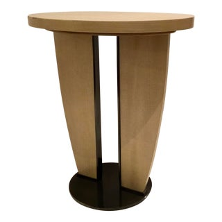 Caracole Industrial Modern Wood and Metal Side Table Prototype For Sale