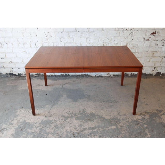 1957 Vintage Florence Knoll for Knoll International Walnut Extension Dining Table - Image 8 of 10