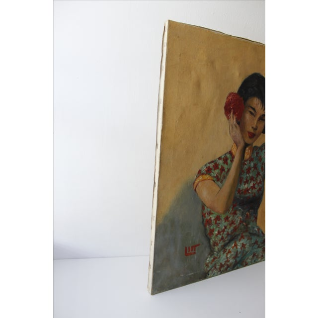Walt Litt Oil Painting Portrait Japanese Woman For Sale In New York - Image 6 of 8