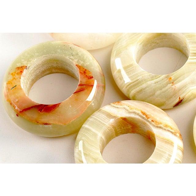 Onyx Napkin Rings in Velvet Presentation Case - Set of 12 For Sale - Image 6 of 9