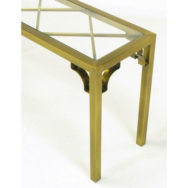 Mastercraft Brass Chinese Chippendale Console Table - Image 6 of 8