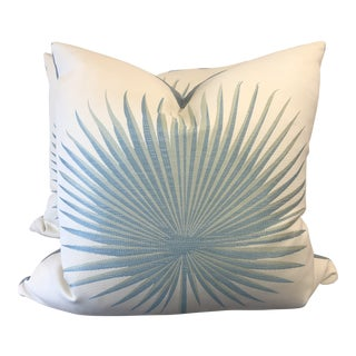 "Palm Leaf Motif 22"" Pillows-A Pair For Sale"
