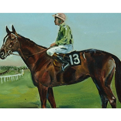 Classic portrait of champion racehorse, Dahlia owned by Nelson Bunker Hunt who raced from 1972-1976!~