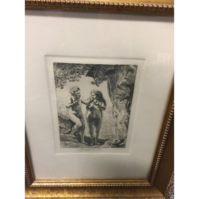 "Beautifully framed, with COA, Image size is 7""x5"", overall it is 16"" x 13"". This is a beautiful etching, after Rembrandt,..."