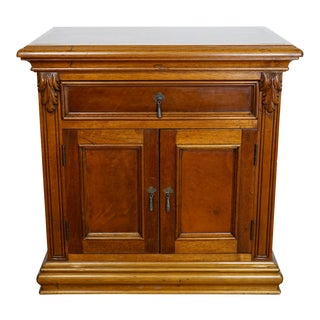 Italian Hand Carved Nightstand For Sale