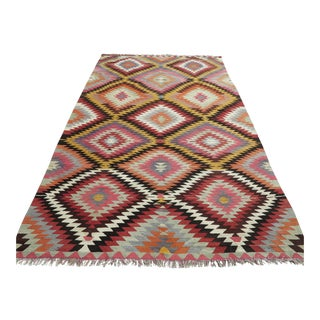 "Turkish Anatolian Kilim Rug-5'7'x9'6"" For Sale"