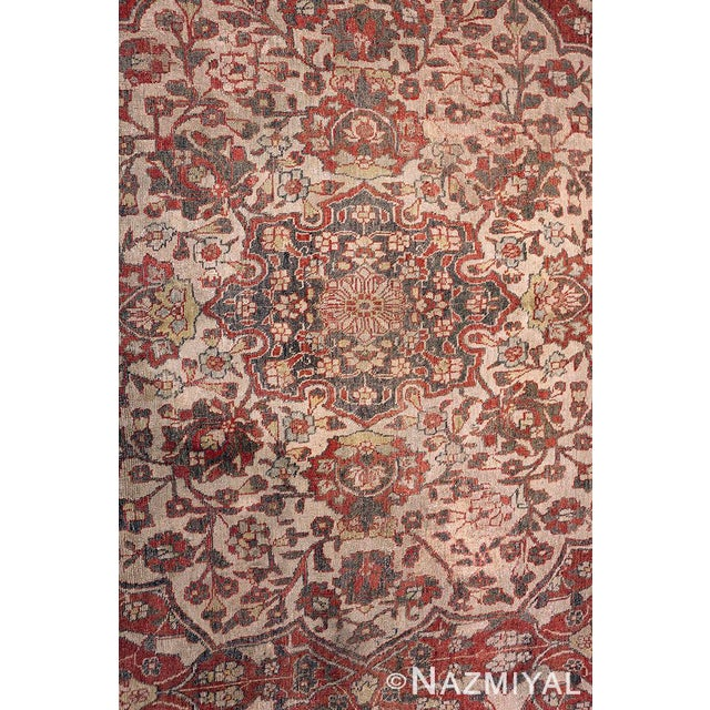 Islamic Room Size Antique Persian Tabriz Rust Color Rug - 10′7″ × 14′5″ For Sale - Image 3 of 11