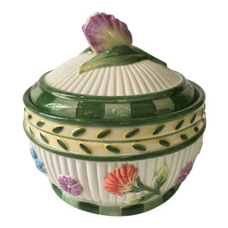 Fitz and Floyd Classics Hand Painted Spring Fling Lidded Porcelain Box For Sale
