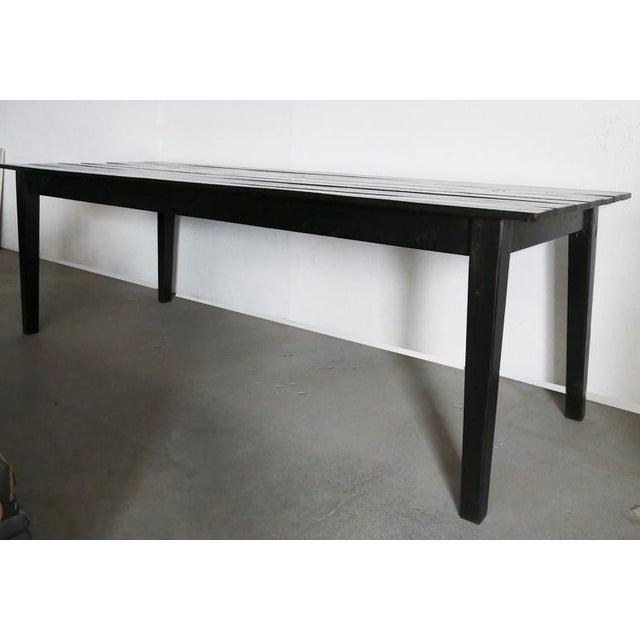 Vintage Farmhouse Table. Black finish. Could be used as nice dining table, good work area or desk, or in the window for as...