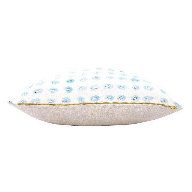 "Blue Kiwis Linen Pillow - 16"" X 20"" - Image 3 of 5"