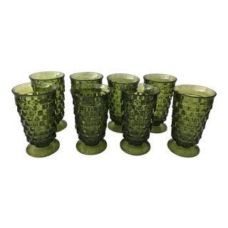 Mid-Century Green American Fostoria Colony Glasses - Set of 8 For Sale