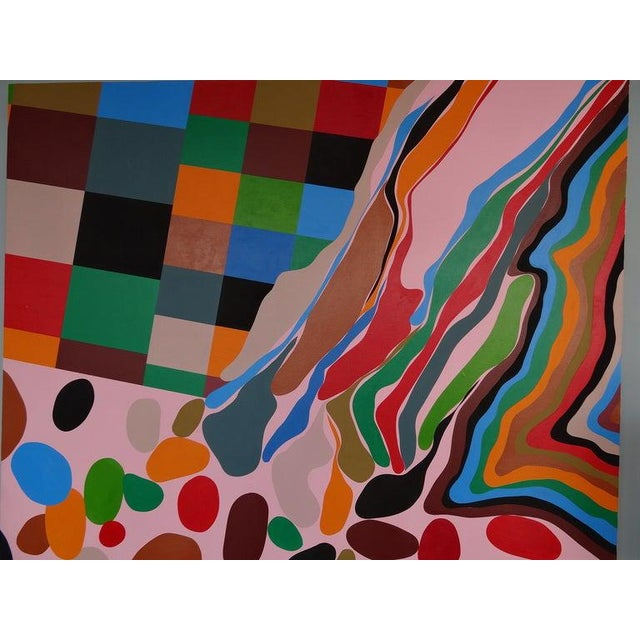 Contemporary Large Painting on Board For Sale - Image 3 of 6