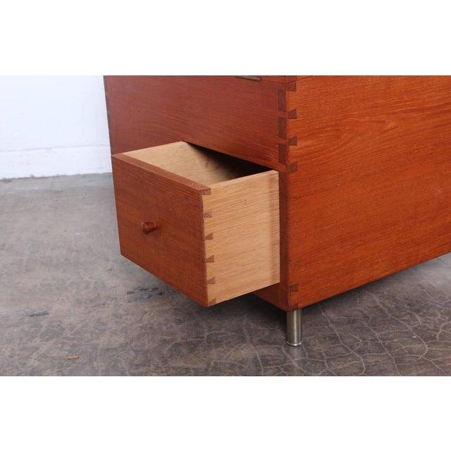 Teak Hans Wegner Teak Cube Bar For Sale - Image 7 of 10