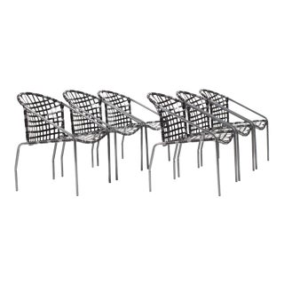 Jordan Patio Kantan Dining Chairs—Set of Six For Sale