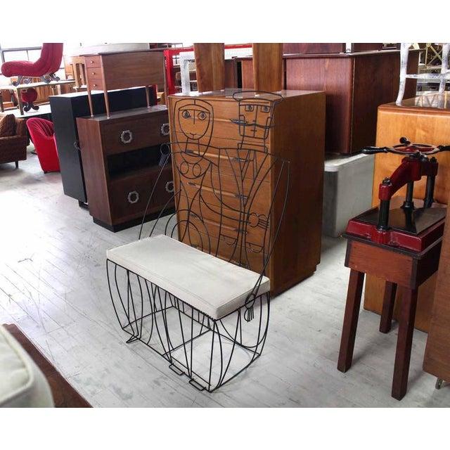 Fabric John Risley Settee / Loveseat For Sale - Image 7 of 9