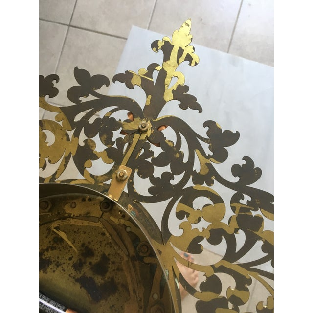 Baroque Large Filigree Mid Century Wall Clock For Sale - Image 3 of 7