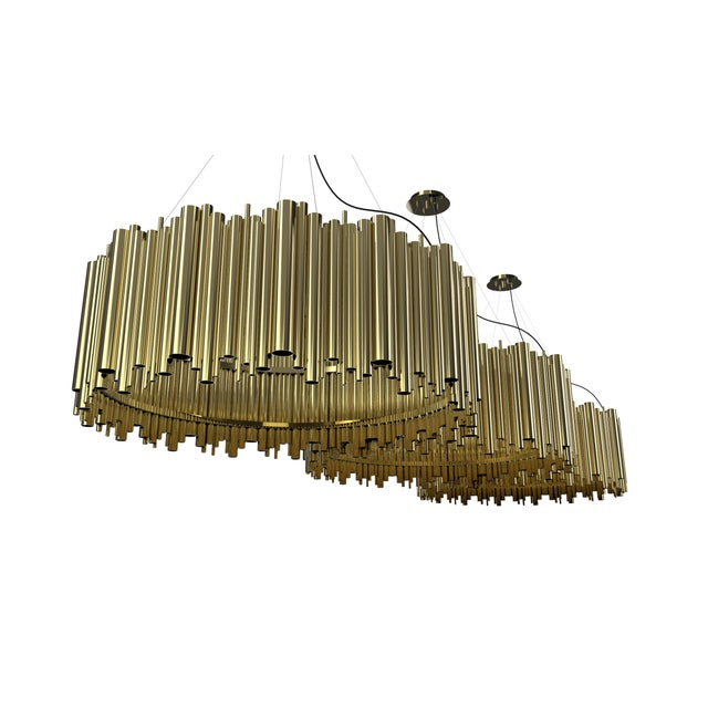 Brubeck Oval Chandelier From Covet Paris For Sale - Image 6 of 11