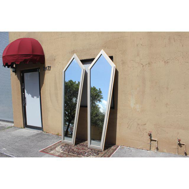 1940s French Art Deco Silver Leaf Mirrors - a Pair For Sale - Image 10 of 13