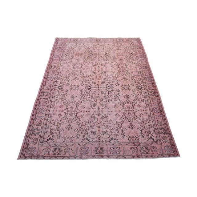 Pink Overdyed Oushak Rug - 6′2″ × 9′1″ - Image 1 of 7