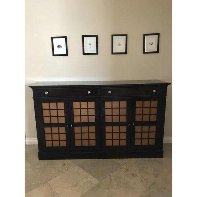 This piece is perfect! Provides a great amount of storage for fine china, silverware, etc. It is in near perfect...