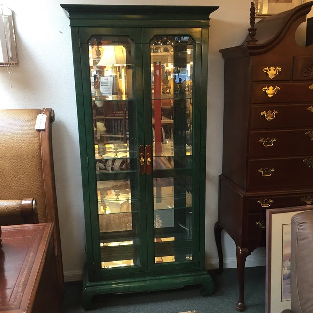 Emerald Curio Cabinet by American of Martinsville - Image 2 of 11