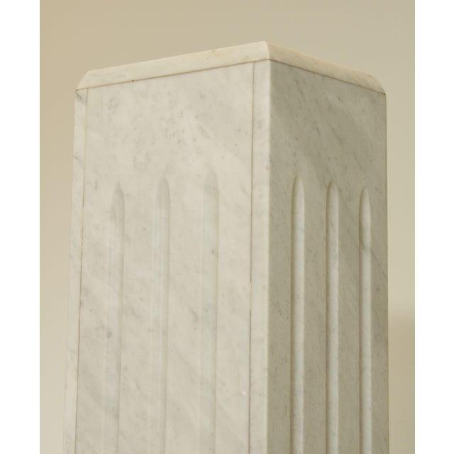 "Italian Carrara Marble 56"" Column Pedestal For Sale - Image 11 of 13"