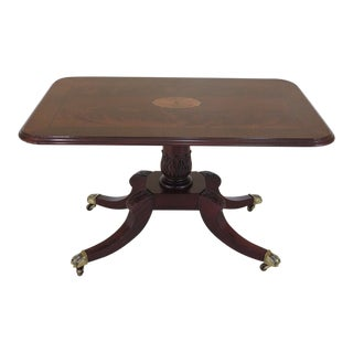 Hickory White Co. Inlaid Mahogany Coffee Table For Sale