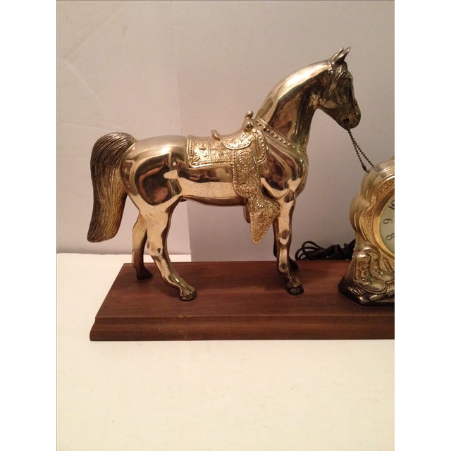 Horse Mantel Clock - Image 3 of 5