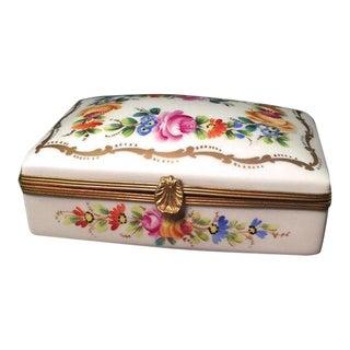Vintage French Limoges Porcelain Box For Sale