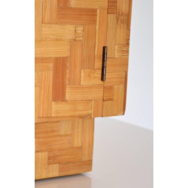 Midcentury Two-Door Rattan Cabinet For Sale - Image 9 of 11