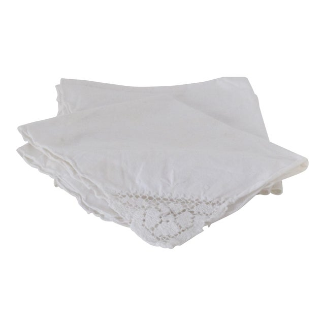 Traditional Linen Napkins - Set of 5 - Image 1 of 3