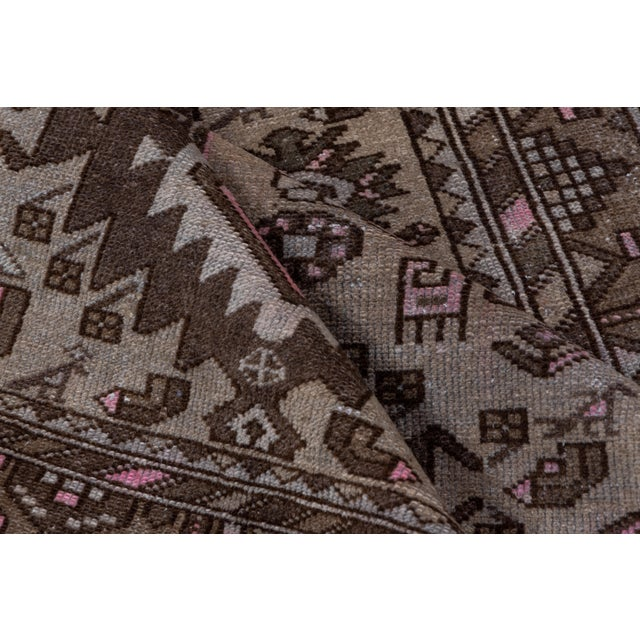 Rustic 1940s Vintage Hamadan Rug- 4′4″ × 7′7″ For Sale - Image 3 of 8