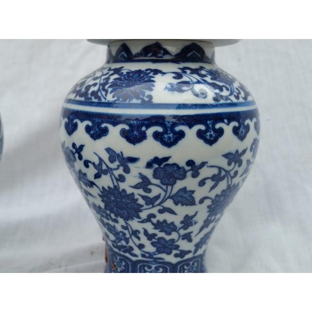 Orientalist Ginger Jars - A Pair - Image 3 of 5