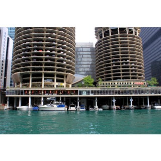 Marina City - Chicago River Photograph For Sale
