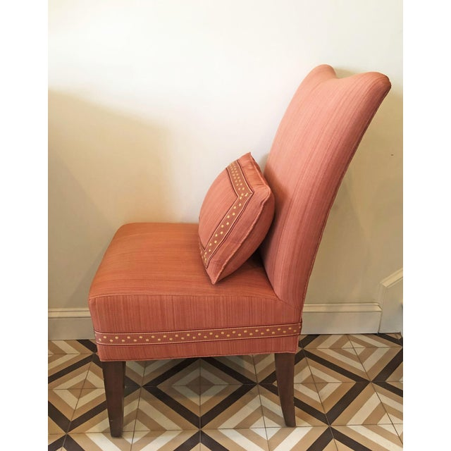 2000 - 2009 Modern Striae Cotton Side Chair For Sale - Image 5 of 10