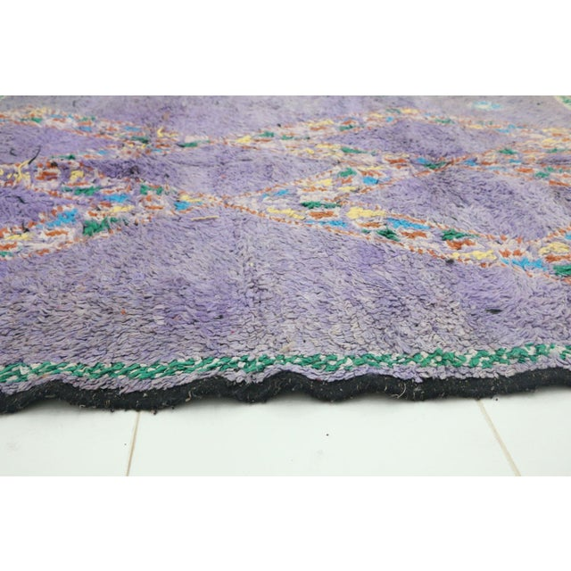 """Boho Chic Boujad Vintage Moroccan Rug, 4'11"""" X 6'2"""" Feet For Sale - Image 3 of 6"""