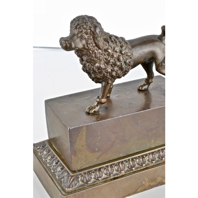 Early 19th Century Bronze Poodle Inkwell, France 19th Century For Sale - Image 5 of 12