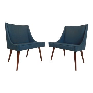 Pair of Vintage Modern Side Chairs by Milo Baughman for Thayer Coggin For Sale